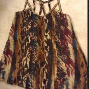Rock and republic size s small beaded top tank